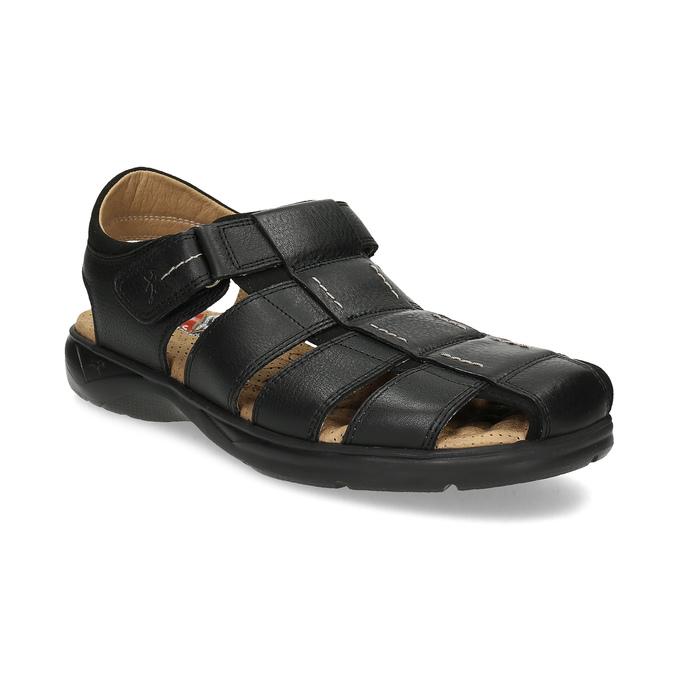 Hnědé sandály pánské fluchos, černá, 864-6635 - 13