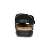Hnědé sandály pánské fluchos, černá, 864-6635 - 15