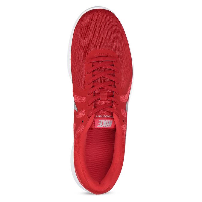 Červené pánské tenisky s bílou podešví nike, červená, 809-5100 - 17