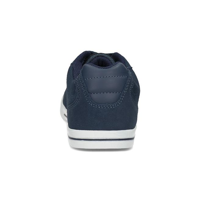 Modré pánské kožené tenisky s bílou podešví power, modrá, 803-9803 - 15