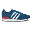 Kožené modré tenisky s červeným detailem adidas, modrá, 803-9302 - 19