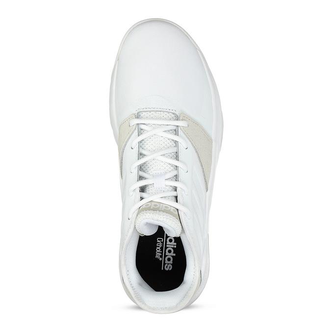 Pánské bílé tenisky s výraznou podešví adidas, bílá, 801-1223 - 17
