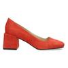 Červené dámské lodičky z broušené kůže bata, červená, 623-5647 - 19