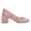 Růžové dámské lodičky z broušené kůže bata, růžová, 623-5648 - 19