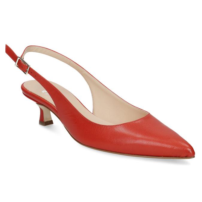 Červené lodičky do špičky bata, červená, 624-5655 - 13