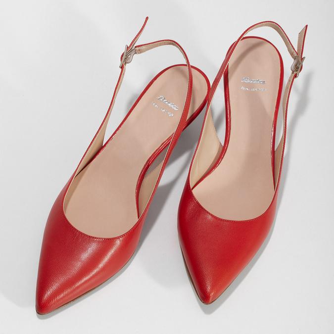 Červené lodičky do špičky bata, červená, 624-5655 - 16