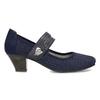 Tmavě modré lodičky z broušené kůže bata, modrá, 623-9646 - 19