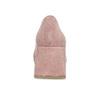 Růžové dámské lodičky z broušené kůže bata, růžová, 623-5648 - 15
