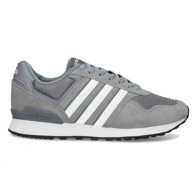 Pánské šedé tenisky kožené adidas, šedá, 803-2102 - 19