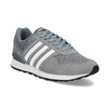 Pánské šedé tenisky kožené adidas, šedá, 803-2102 - 13
