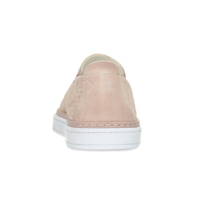 Růžové kožené slip-on tenisky bata, růžová, 533-5601 - 15