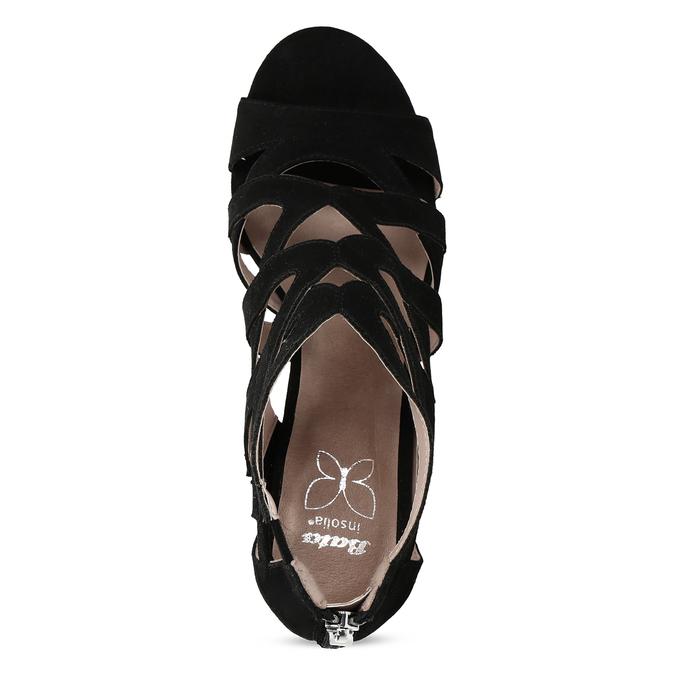 Černé dámské sandály insolia, černá, 661-6611 - 17