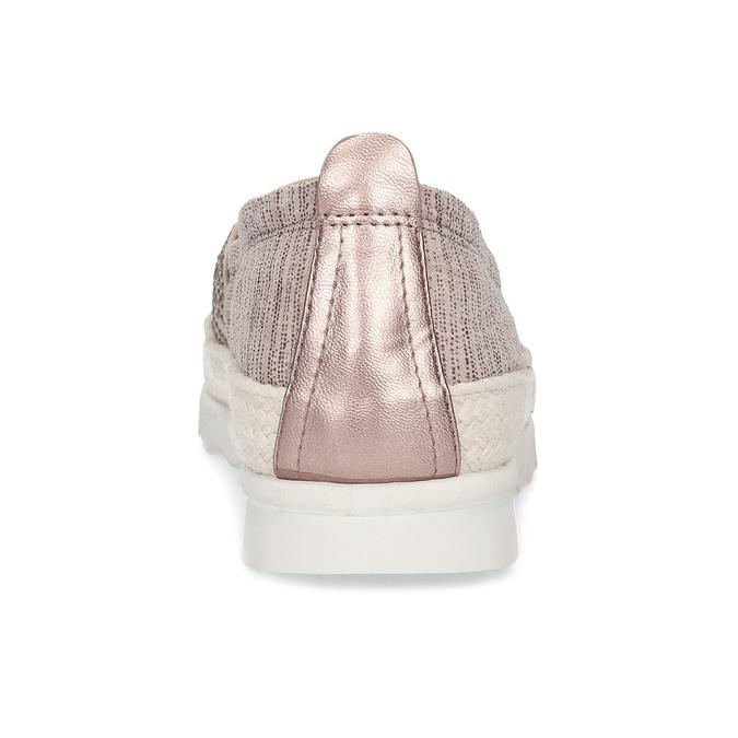 Dámské starorůžové mokasíny s kamínky bata, růžová, 519-5610 - 15