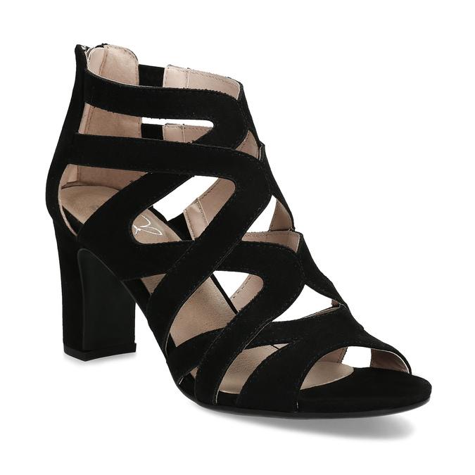 Černé dámské sandály insolia, černá, 661-6611 - 13