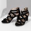Černé dámské sandály insolia, černá, 661-6611 - 16