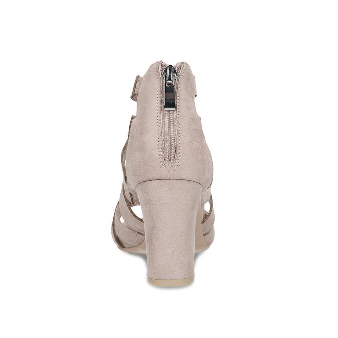 Sandály na stabilním podpatku béžové insolia, béžová, 661-8611 - 15