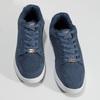 Modré pánské kožené tenisky s bílou podešví power, modrá, 803-9803 - 16