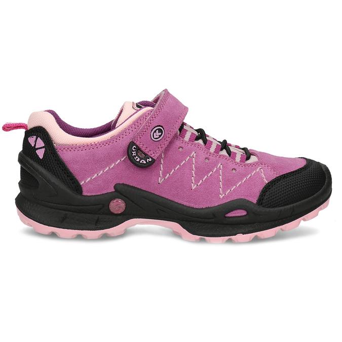 kožené dívčí tenisky v outdoorovém stylu mini-b, růžová, 423-5648 - 19