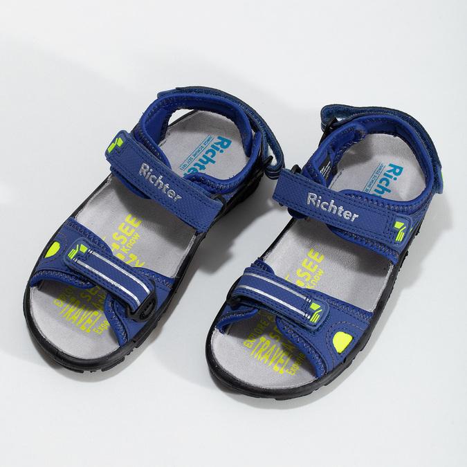 Dětské sandály modré richter, modrá, 361-9109 - 16