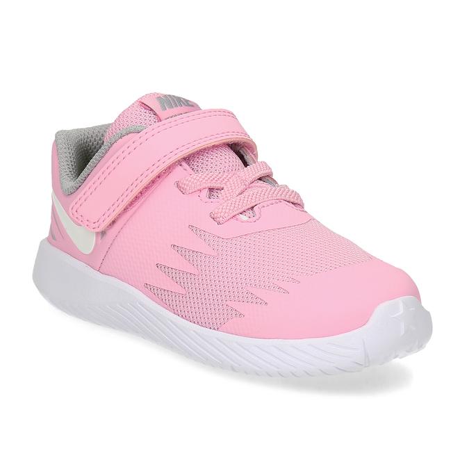Světle růžové sportovní dětské tenisky nike, růžová, 109-5259 - 13