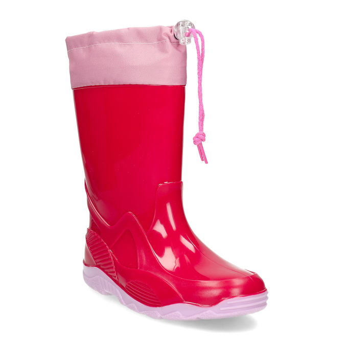 Červené dívčí holínky mini-b, růžová, 392-5641 - 13
