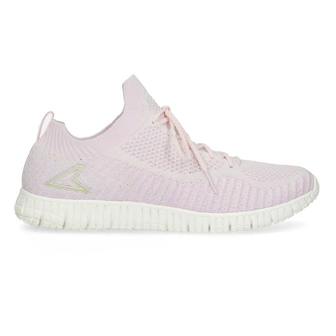 Růžové dámské tenisky v pleteném stylu power, růžová, 509-0211 - 19