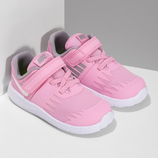 Světle růžové sportovní dětské tenisky nike, růžová, 109-5259 - 26