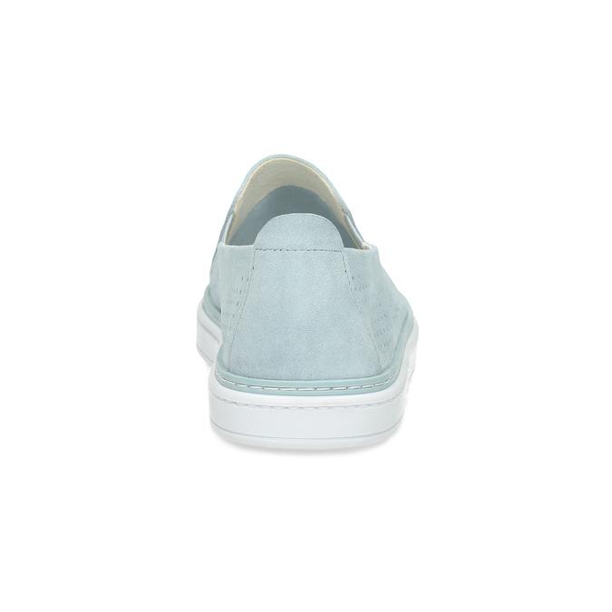 Dámské kožené Slip-on světle modré bata, modrá, 533-9601 - 15