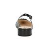 Černé kožené lodičky s otevřenou patou hogl, černá, 628-6009 - 15
