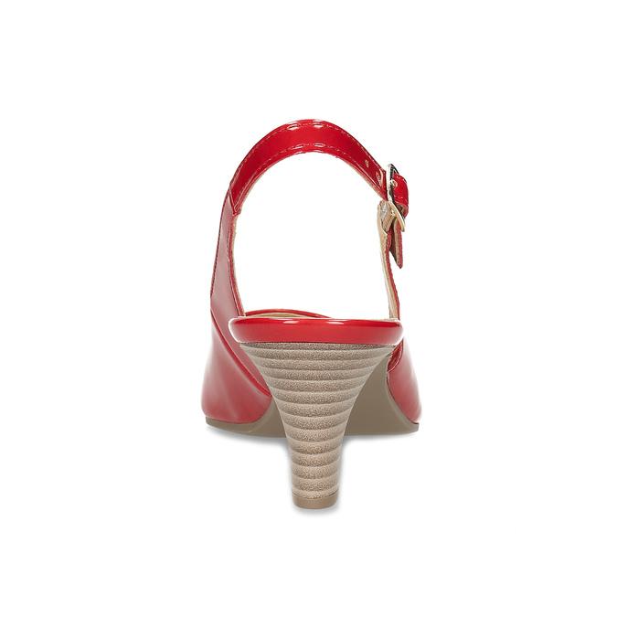 Dámské lodičky s volnou patou gabor, červená, 661-5630 - 15