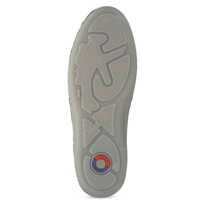 Kožené sandály hnědé fluchos, hnědá, 856-3621 - 18