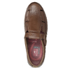 Kožené sandály hnědé fluchos, hnědá, 856-3621 - 17