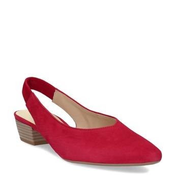 Kožené dámské lodičky gabor, červená, 663-5604 - 13