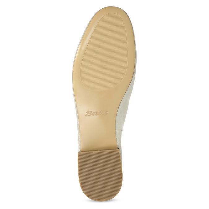 Dámské zlaté kožené mokasíny bata, zlatá, 518-8605 - 18