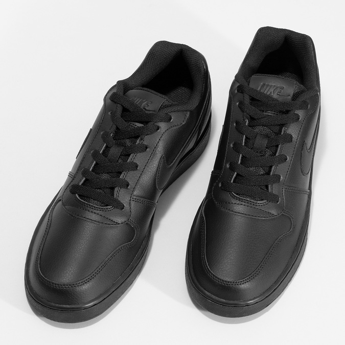 Pánské ležérní černé tenisky s prošitím nike, černá, 801-6124 - 16
