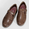 Kožené sandály hnědé fluchos, hnědá, 856-3621 - 16