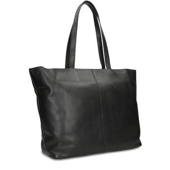 Černá kožená shopper bag bata, černá, 964-6701 - 13