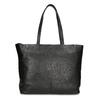 Černá kožená shopper bag bata, černá, 964-6701 - 26