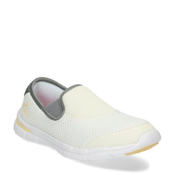 Dámská Slip-on obuv s perforací power, bílá, 509-1418 - 13