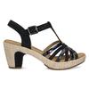 Dámské sandály na podpatku gabor, modrá, 663-6601 - 19