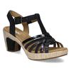 Dámské sandály na podpatku gabor, modrá, 663-6601 - 13