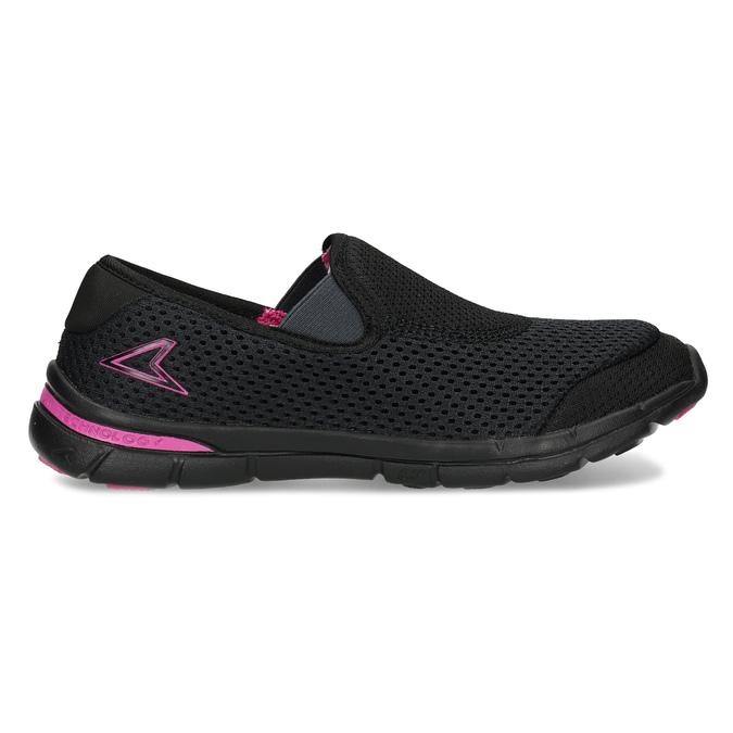 Sportovní dámské Slip-on power, černá, 509-6418 - 19