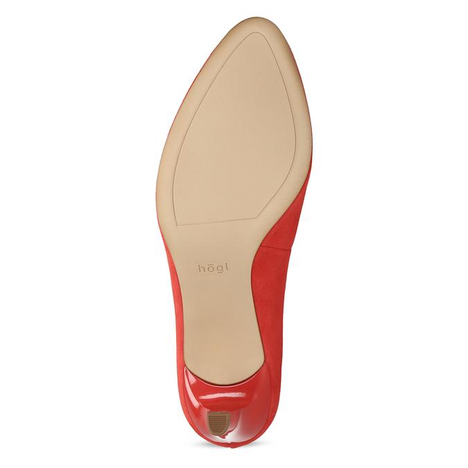 Červené lodičky z broušené kůže hogl, červená, 623-5007 - 18