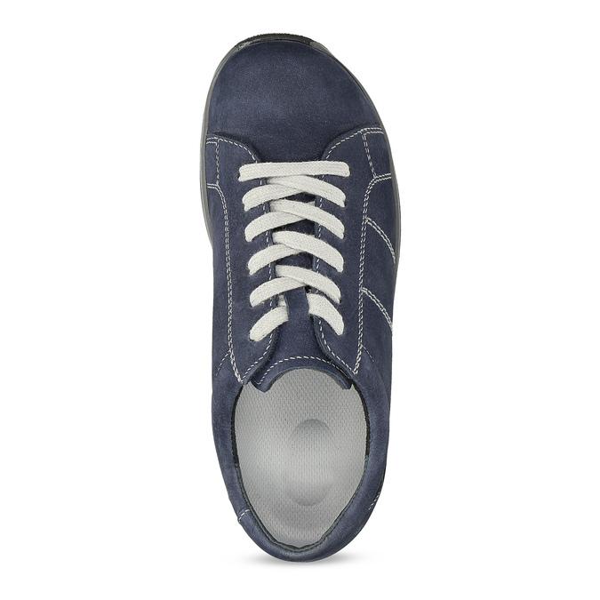 Kožené modré dámské tenisky comfit, modrá, 546-9600 - 17