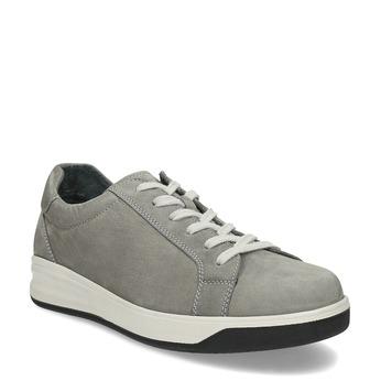 Pánské šedé tenisky z broušené kůže comfit, šedá, 846-2724 - 13