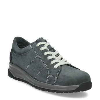 Kožené šedé dámské tenisky comfit, šedá, 546-2601 - 13