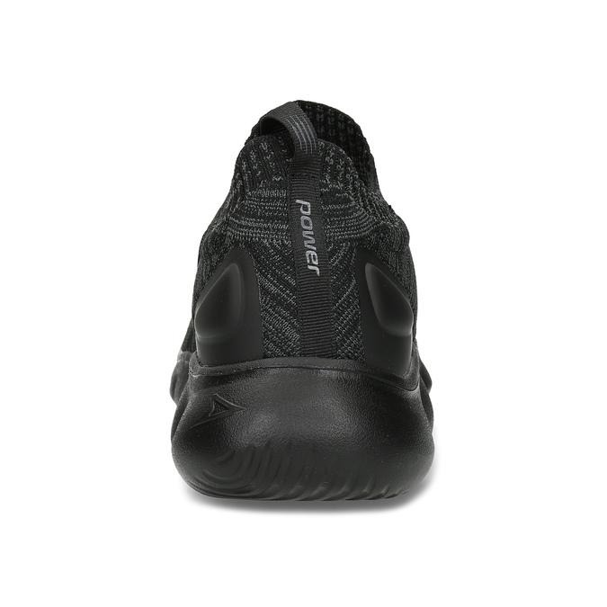 Černé pánské kotníčkové tenisky z úpletu power, černá, 809-6235 - 15