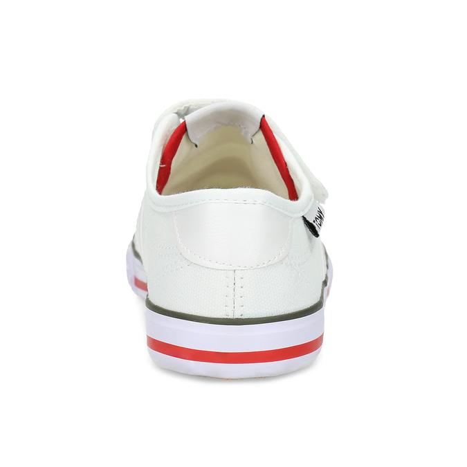 Dětské bílé tenisky se suchými zipy tomy-takkies, bílá, 389-1421 - 15