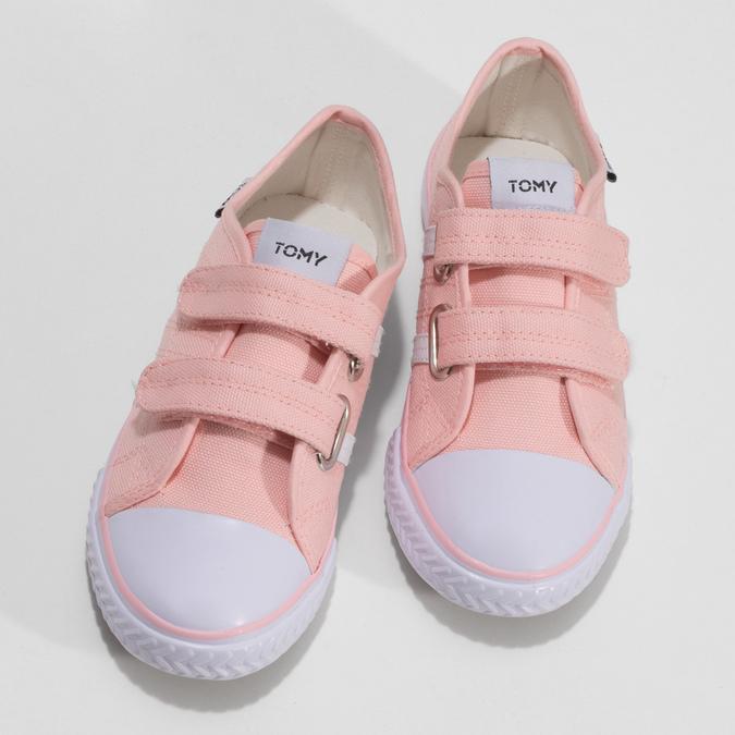 Dětské růžové tenisky se suchými zipy tomy-takkies, růžová, 389-5421 - 16