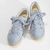 Modré dámské tenisky na přírodní flatformě bata, modrá, 559-9606 - 16
